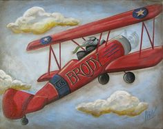 airplane canvas for baby boy which we are thinking of naming Brody! his room is airplanes too! its perfect!