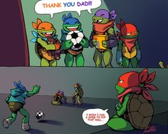Splinter Might Regret Giving the Turtles a Soccer Ball
