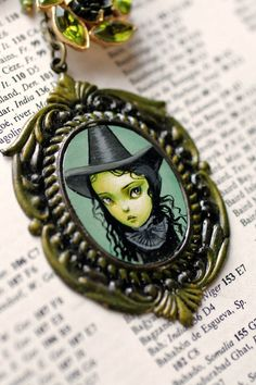 Elphaba the Wicked Witch - from the Oz Collection - original cameo by Mab Graves