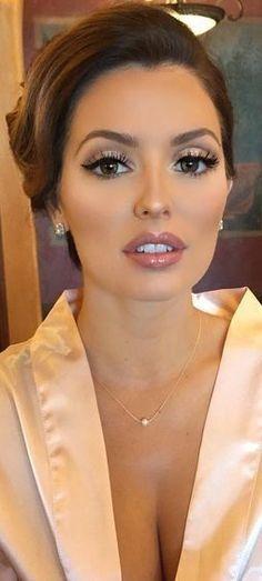 Best Bridal Makeup, Wedding Makeup Tips, Natural Wedding Makeup, Bridal Hair And Makeup, Wedding Hair And Makeup, Hair Makeup, Hair Wedding, Natural Makeup, Dream Wedding