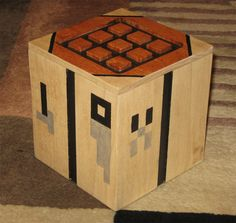 Minecraft Crafting Table Box reserved for by OberonWoodcraft Minecraft Toys, Minecraft Crafts, Minecraft Party, Minecraft Stuff, Minecraft Bedroom, Minecraft Furniture, Wood Crafts, Fun Crafts, Arts And Crafts