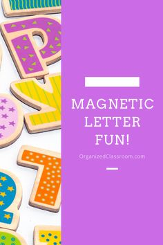 Learning activities for magnet letters! They are easy to use on a cooking tray and so many different lesson plan ideas to use for students of all ages! #readinglessonplans #languagearts Teaching Letters, Learning The Alphabet, Fun Learning, Learning Activities, Word Work Activities, Phonics Activities, Alphabet Activities, Ela Classroom, Classroom Organization