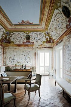The painter Cy Twombly completed much of his later work within the frescoed walls of his companion Nicola Del Roscio's Gaeta villa. Parts of the southern Italy property date back to 1000 A.D.