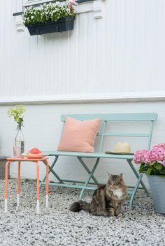 Colour: Lavendel & coral  Utebenk_LADY Inspirasjonsblogg_5