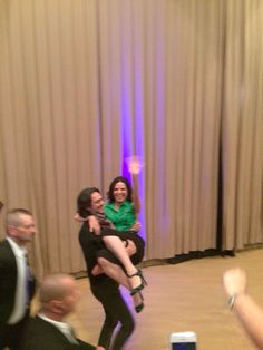 Fred, Lana's husband, carried Lana off stage at Fairy Tales III ! This is sooo cute ! Relationship goal !