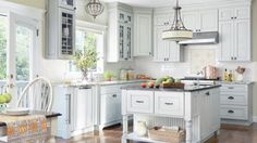 Blue is a quintessential color for cottage-style. See how to use the color in your cottage kitchen./