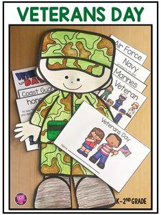 Veterans Day Activities Kindergarten and First Grade Veterans Day Activities, First Grade Activities, Teaching First Grade, Teaching Art, Teaching Ideas, Kindergarten Graduation Songs, Kindergarten Activities, Activities For Kids, Tracing Worksheets