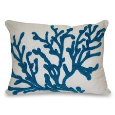 Thro Coral Towel Stitch Pillow