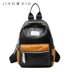 e2eed45710bc Find More Backpacks Information about JIANXIU Fashion Women Backpack PU  Leather Student Shoulder Bags Casual School