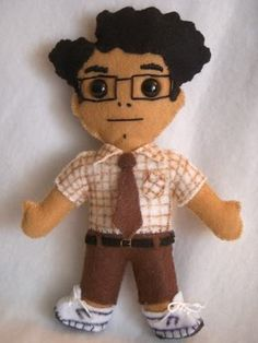 Moss from The IT Crowd felt doll. I really, like really really, want this.