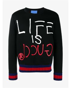 GUCCI Gucci Ghost Life Is Gucci Sweatshirt. #gucci #cloth #
