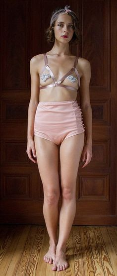 High-waisted carousel panties. Love the vintagey-ness of it. $98
