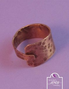 Copper Ring Copper Adjustable Ring Copper by SerendipityFinch