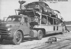 NASCAR Fords on Transporter 59 by PAcarhauler, being pulled by a Dodge, how embarracing