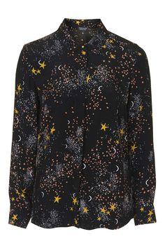 Cresent Moon Shirt - Tops - Clothing - Topshop