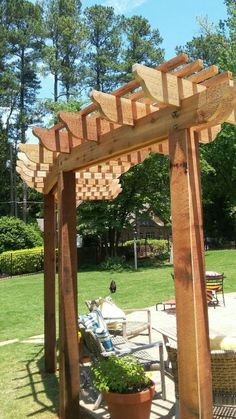 The pergola kits are the easiest and quickest way to build a garden pergola. There are lots of do it yourself pergola kits available to you so that anyone could easily put them together to construct a new structure at their backyard. Hot Tub Pergola, Curved Pergola, Small Pergola, Pergola Attached To House, Pergola Swing, Deck With Pergola, Outdoor Pergola, Pergola Lighting, Cheap Pergola