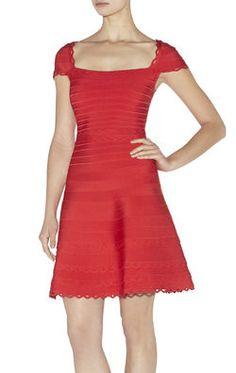 Alana Cutout Scalloped Dress