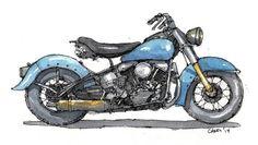 1950 Harley Davidson Panhead approx. 8x10