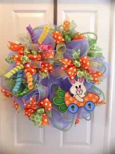 A personal favorite from my Etsy shop https://www.etsy.com/listing/270426655/bunny-in-a-carrot-car-easter-wreath