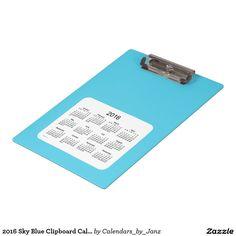 2016 Sky Blue Clipboard Calendar by Janz