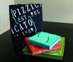 Pizzicato Pizza Box — The Dieline - Branding & Packaging Food Packaging Design, Beverage Packaging, Packaging Design Inspiration, Brand Packaging, Box Packaging, Branding Design, Pizza Box Design, Pizza Project, Exterior Signage