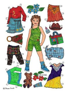 Karen`s Paper Dolls: Simone 1-6 Paper Doll in Colours.Simone 1-6…