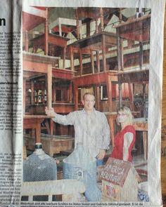 Jubiläum!  30 Jahre Antiquitäten Kaiser!  7 Jahre in Neustadt!  Der Zeitungsausschnitt als Memento. #Jubiläum #30jahre #7jahre #blog #wohnartistin #wohneinrichtung #möbelrestauration #Möbel #möbellager #furniture #antique #Antiquitäten #antiquitätenkaiser #antiqueshop #antikschwarzwald #antikhalle
