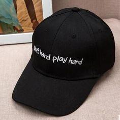 """""""WORK HARD, PLAY HARD"""" cap"""