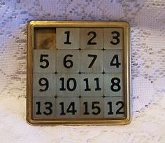 I loved this sliding number game.
