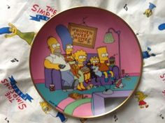 Simpsons Franklin Mint plate Family for the 90s