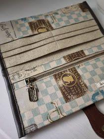 artchala handmade: Vintage Sign Long Wallet - SOLD