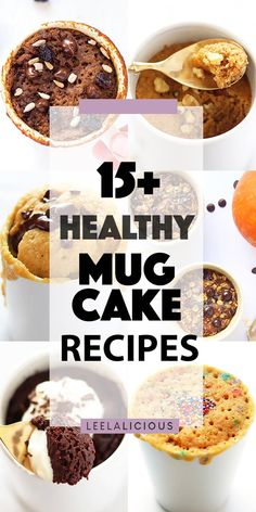 Satisfy your sweet tooth cravings with these delicious healthy mug cakes. Single servings of dessert that are gluten free, paleo or low carb, and ready in a flash! #mugcake #dessert #cake #keto #glutenfree #paleo #lowcarb #recipe #sweets #singleserving #forone #chocolate #pumpkin #peanutbutter #vanilla