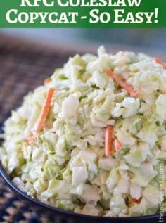 KFC Coleslaw in just a few minutes with easy ingredients. It tastes exactly the same!