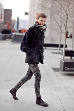 Model's streetstyle. winter