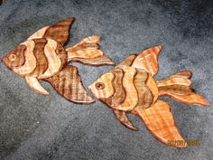 Intarsia Angel Fish made from Walnut and Maple.