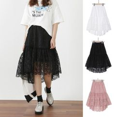 New Women Spring Casual Races Floral Skirt Japanese/Korean Fashion #Unbranded #FlareSkirt