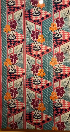 Fabric by Marion Hall Best designed by Thea Proctor currently on display at Museum of Sydney