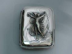Gorham Cigarette Case - B1732M - Art Nouveau - American Sterling Silver - 1901 in Cigarette & Vesta Cases | eBay
