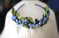 Gorgeous Rustic Woodland Head Crown  Blueberry hair by Htozkaya, $85.00