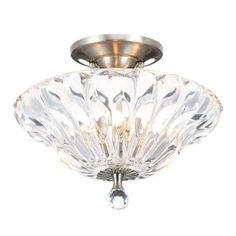 Dale Tiffany Meridith 3-Light Polished Chrome Crystal Semi-Flush Mount Light-GH11235PC - The Home Depot