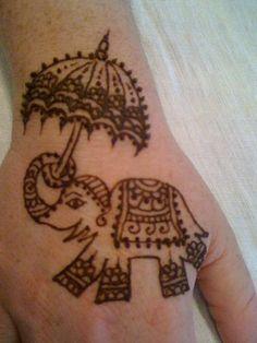 Easy Elephant Henna Tattoo