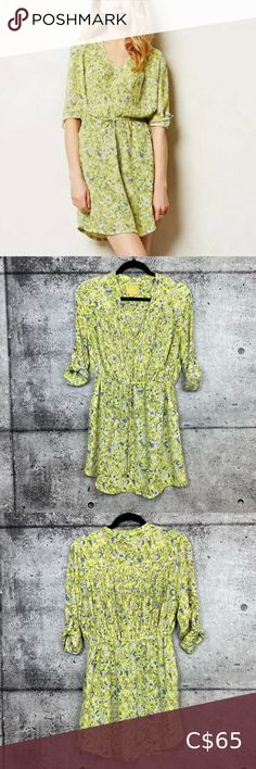 Anthropologie // Maeve // Galen Floral Dress Brand: Maeve from Anthropologie Item: Galen Dress in Neon Floral Description: Neon Floral, Drawstring Waist, Pleating, Roll-tab Sleeves Size: Small Petite Measurements Available Upon Request Condition: Pre-Owned Flaws: Waist Drawstring is fraying Fabric Content: See Photo Anthropologie Dresses Long Sleeve Vintage Crochet Dresses, Sailor Dress, Striped Knit, Anthropologie Dresses, Dress Brands, Drawstring Waist, Dresses With Sleeves, Long Sleeve, Fashion