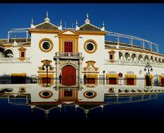 PLAZA DE TOROS DE LA REAL MAESTRANZA DE CABALLERÍA DE SEVILLA!!!! Considerada una de las plazas más importantes de España y con mayor tradición taurina. Conocida como la Catedral del Toreo, es un privilegio cada vez que he podido ver allí uno de los artes más bonitos de mi país...