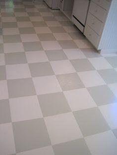 diy painted vinyl floors: turn gross, dated sheet vinyl into
