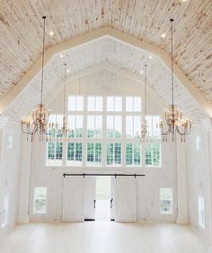 Wow from Pinterest #barn#venue#wedding#bright#white#light#natural#space#chandelier#amazing#beautiful#love#wow#factor#breathtaking#pinterest#pins#picoftheday#instagram#instacool#instadaily#instalove#myloveofinteriors by my_love_of_interiors