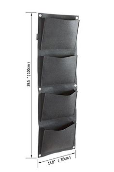 Prudance® Vertical Wall Garden Planter, 4 Pockets, Wall Mount Plant Solution Large