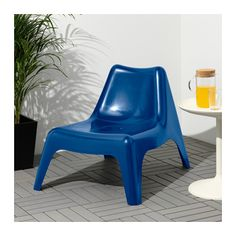 IKEA PS VÅGÖ Chair, outdoor - dark blue, - - IKEA