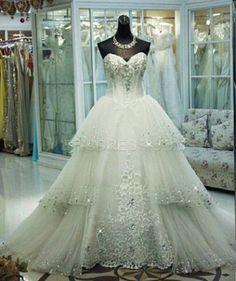Ericdress Elegant Sweetheart Appliques Wedding Dress Wedding Dresses 2015- ericdress.com 11348668
