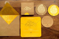 wedding invitations the ochre shed yellow invite card creative paper card
