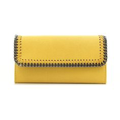 Stella Mccartney Falabella Wallet (€240) ❤ liked on Polyvore featuring bags, wallets, yellow bag, stella mccartney wallet, stella mccartney, yellow wallet and stella mccartney bags